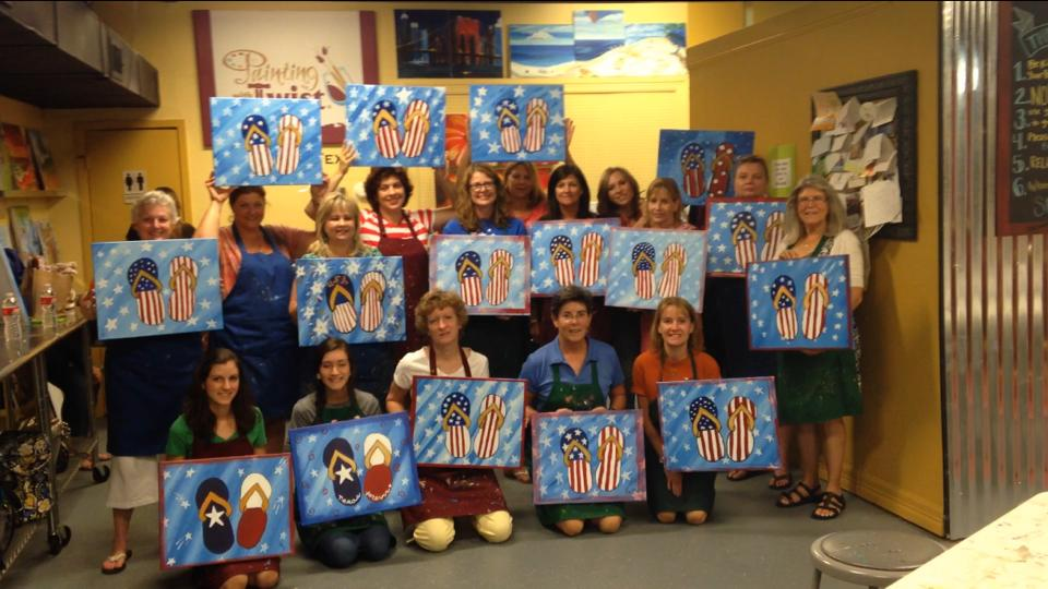 Painting with a Twist July 2014
